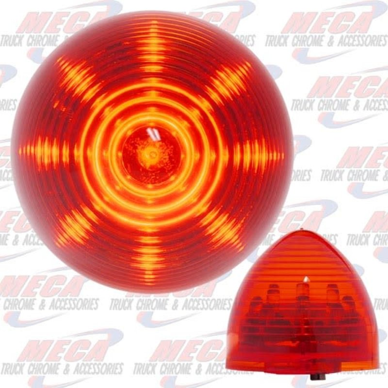 2'' LED RED BEEHIVE 9 DIODES MARKER CLEARANCE LIGHT