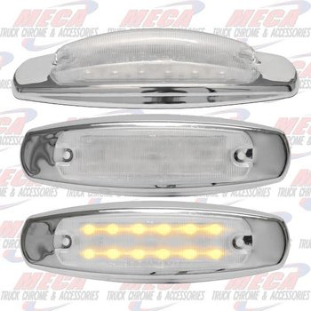 SIDE MARKER LGT PB STYLE CLEAR LED AMBER 12 DIODE