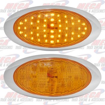 OVAL STOP & TAIL LT YEL 48 LED
