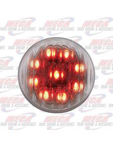 MARKER LIGHTS 2'' LED RED CLEAR 9 DIODES MARKER LIGHT RIBBED