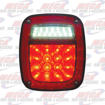 TAIL LIGHT OLD JEEP STYLE W/O LICENSE PLATE LIGHT