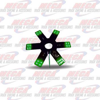 "STAR LED- INSIDE 15"" AIR FILTER GREEN EACH 8"" DIA"
