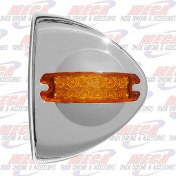 PB FRONT TURN SIGNAL CAP W/ PB STYLE REFLECTOR LED