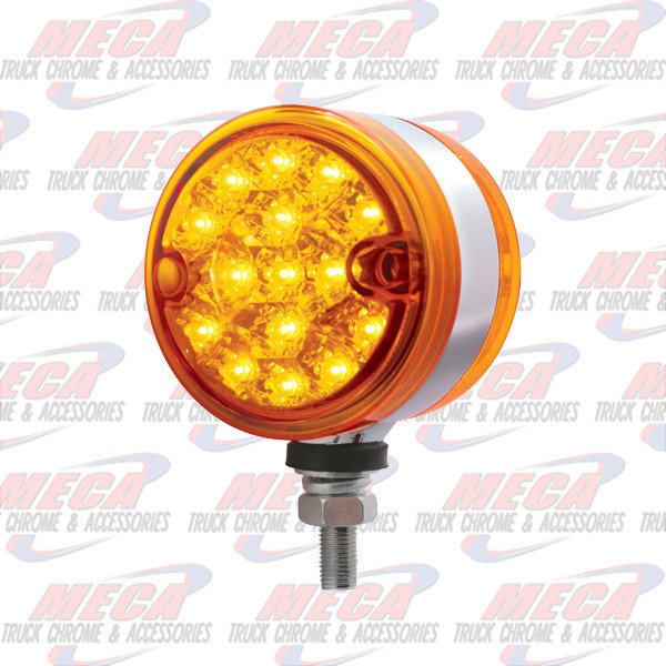 """MARKER LIGHTS 15 LED 3"""" LIGHT DUAL FUNTION AMBER DOUBLE FACE"""