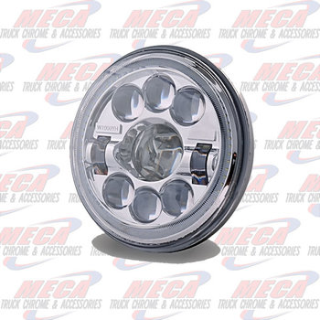 """LED HEADLIGHT BEAM HIGH/LOW 7"""" ROUND W/ PROJECTORS"""