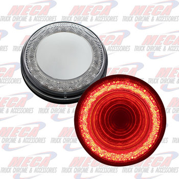 LED 4'' MIRROR CLEAR RED MIRAGE TUNNEL LIGHT