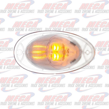 LED SIDE TURN TEAR DROP DUAL FUNC FL CASCADIA CLR