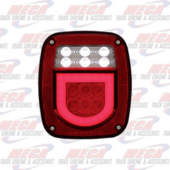 TAIL LIGHT OLD JEEP STYLE W/ HALO W/O LIC PLATE LT