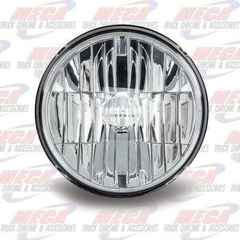 "7"" ROUND LED HEADLIGHT 580 LUMENS (4 DIODES)"