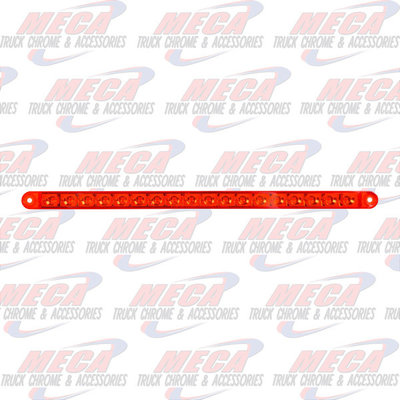 """MARKER LIGHTS 12"""" PEARL RED/RED 18LED LIGHT BAR, 3 WIRES"""