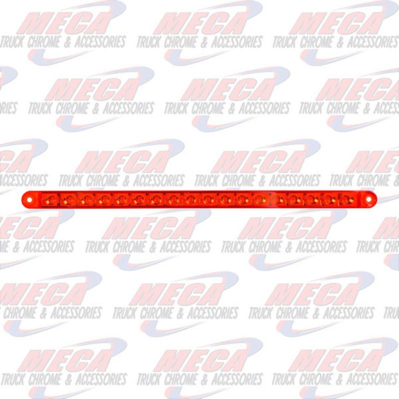 """12"""" PEARL RED/RED 18LED LIGHT BAR, 3 WIRES"""