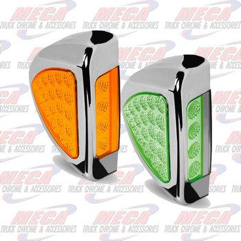TURN SIG LED PB 379 AMBER/GREEN- SIDE OF HEADLIGHT