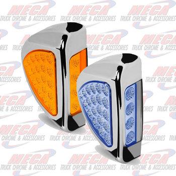 TURN SIG LED PB 379 AMBER/BLUE - SIDE OF HEADLIGHT