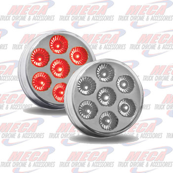 LED 2.5'' DUAL REVOLUTION 7 DIODES RED/WHT