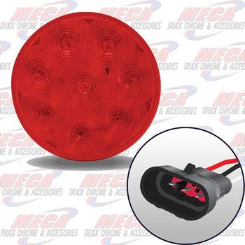 LED 4'' RED W/ TRUCK-LITE PLUG