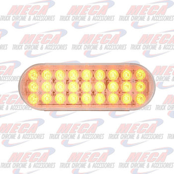 LED OVAL AMBER/CLEAR DYNAMIC SEQUENTIAL
