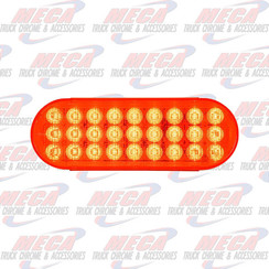 LED OVAL RED/RED DYNAMIC SEQUENTIAL