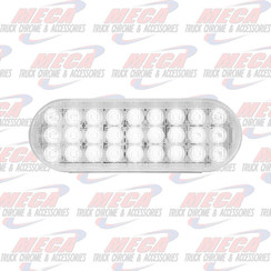 LED OVAL WHITE/CLEAR BACK UP