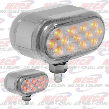 SMALL RECT LOLLYPOP 13 CLR LED DUAL FUNCT- T MOUNT