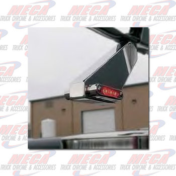 MIRROR MOUNT LIGHT & S/S ANGLED BKT - RED/AMB CLEAR