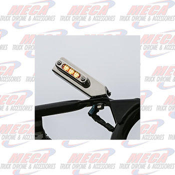 TOP MIRROR MOUNT LT & SS ANGLED BKT- RED/AMB CLR