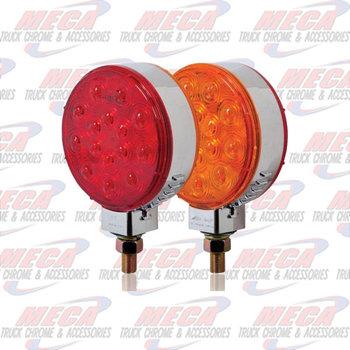 LOLLYPOP RND RED/AMB 30 LEDS