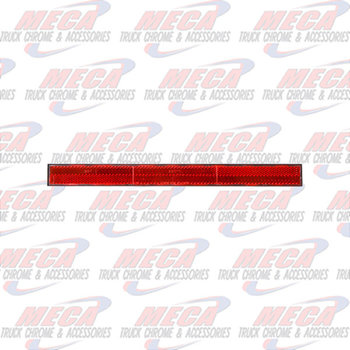 "PLASTIC REFLECTOR RED FOR TOP REAR SLEEPER 1""X12"""