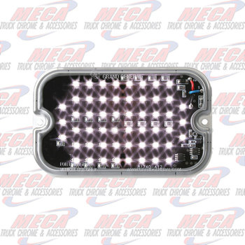 "STROBE LT RECT WHITE 15 PATTERNS 5"" X 3"" X .34"""