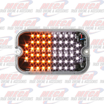 "STROBE LT RECT AMB/WHT 15 PATTERNS 5"" X 3"" X .34"""