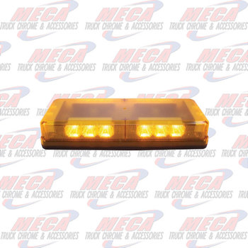 STROBE BAR 18 LED AMBER BAR PERMANENT MOUNT