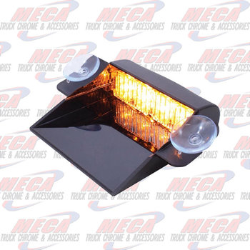 STROBE 4 LED AMBER DASH MOUNT