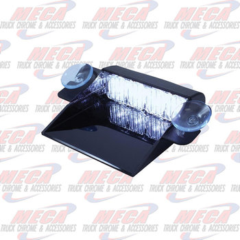 STROBE 4 LED WHITE DASH MOUNT