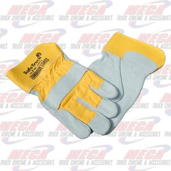 WORK GLOVES HD EXTRA LARGE LEATHER (SET)