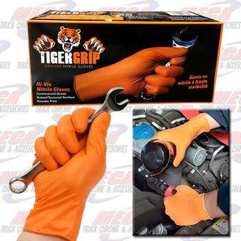 WORK GLOVE NITRILE TIGER GRIP ORG X-LARGE BOX/ 100