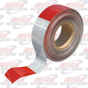 CONSPICUITY REFLECTIVE TAPE RED / WHITE 50M