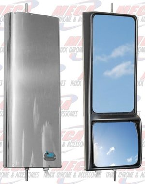 SIDE MOTOMIRROR LARGE WITH CONVEX & MOTORIZED -SET OF 2 MOTO MIRROR