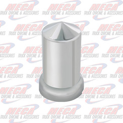 NUT COVER CHR PLASTIC POINTED W/ FLANGE, 33 M/M
