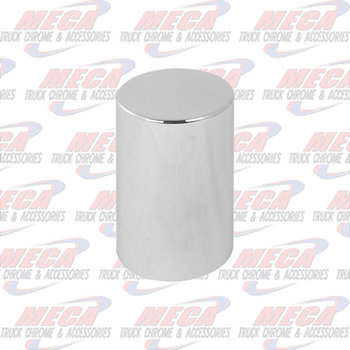 """NUT COVER 4.5"""" TALL CYLINDER FLAT TOP THREADED"""