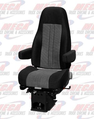 INSIDE NATIONAL2 SEAT CAPTAIN CLOTH 2- TONE BLACK / GRAY