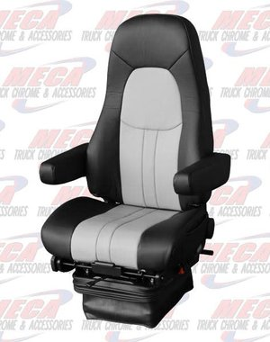 INSIDE NATIONAL4 SEAT COMMODORE LEATHER 2 TONE BLK/GRY