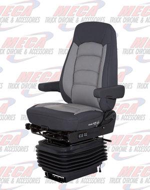 INSIDE SEAT WR II HI BK HEATED BLACK/ GRAY ULTRA LEATHER