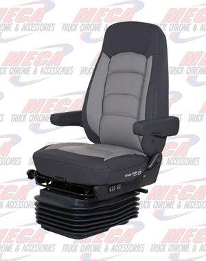 INSIDE SEAT WR II HI BK LOW RIDER BLK/ GRAY LTHR &MSSGE