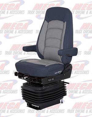 INSIDE SEAT BOSTROM WIDE RIDE II HI BK BLU/GRY LTHR SERTA