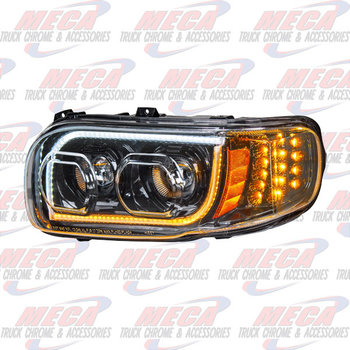HEADLIGHT HOUSING PB 389 DVR SIDE 100% LED BLACK