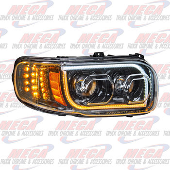 HEADLIGHT HOUSING PB 389 PSSGR SIDE 100% LED BLACK