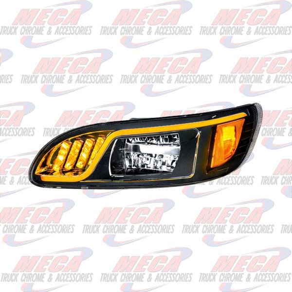 FRONT HEADLIGHT HOUSING PB 386/387 DRIVER 100% LED BLACK