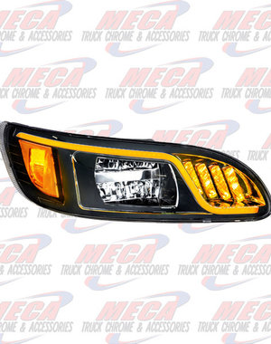 FRONT HEADLIGHT HOUSING PB 386/387 PASSENGER 100% LED BLACK