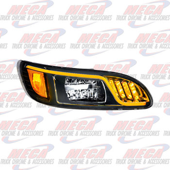 HEADLIGHT HOUSING PB 386/387 PASSENGER 100% LED BLACK