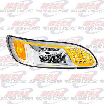 HEADLIGHT HOUSING PB 386/387 PASSENGER 100% LED CHROME