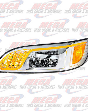 FRONT HEADLIGHT HOUSING PB 386/387 DRIVER 100% LED CHROME